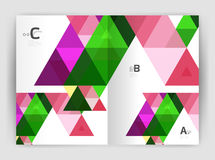 Mosaic triangle annual report template stock illustration