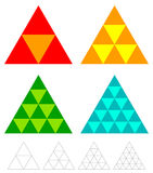 Mosaic triangle elements with wireframe grid. tessellation, mosa Stock Images