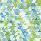 Mosaic of triangles and contour drawing Royalty Free Stock Images