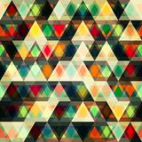 Mosaic triangles seamless pattern Stock Photos