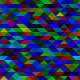 Mosaic triangles texture. Colorful blue mosaic triangles texture, vector image Stock Photos