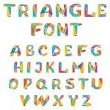 Mosaic triangular alphabet Royalty Free Stock Photography