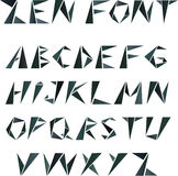 Mosaic triangular alphabet in zen style Stock Images