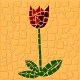 Tulip. Mosaic of Tulip in screen royalty free illustration