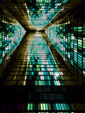 Mosaic tunnel. Royalty Free Stock Photos