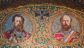 Mosaic of two generals of the Franco-Prussian War Royalty Free Stock Photo