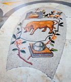 Mosaic of Umberto I gallery in Naples Royalty Free Stock Photos