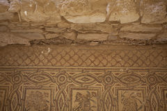 Mosaic in Umm Ar-rasas in Jordan. An Unesco World Heritage Site along the King's Highway royalty free stock photos