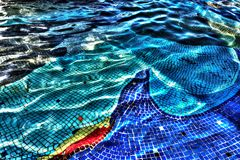 Mosaic under the water stock image