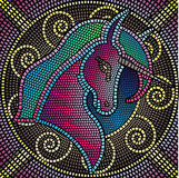 Mosaic Unicorn Royalty Free Stock Photos