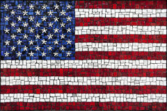 Mosaic United States of America flag Stock Photography