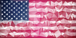Mosaic usa flag background royalty free stock photo