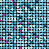 Mosaic, vector. Mosaic made from small circles stock illustration