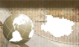 Mosaic vector frame with globe. Eps10 Royalty Free Stock Images