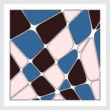 Mosaic. Vector illustration. Mosaic background consists of a variety of colors such as blue black pink. Vector illustration Stock Image