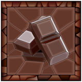 Mosaic vector illustration of chocolate bars. Stock Photo