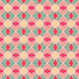 Mosaic vector pattern. With pink and green elements Royalty Free Stock Image