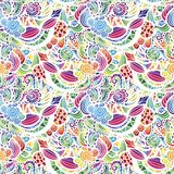 Mosaic vector seamless pattern. Mosaic vector seamless  pattern with flowers Stock Photography