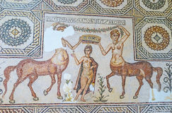 The mosaic of Venus. TUNIS, TUNISIA - SEPTEMBER 2, 2015: The mosaic of Venus, surrounded by two Centauresses in Bardo National Museum, on September 2 in Tunis Stock Image