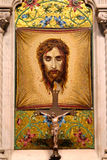 Mosaic of Veronica`s Veil in Saint Patrick`s Cathedral. New York. Altar of the Holy Face Saint Veronica`s Veil at St. Patrick`s Cathedral Royalty Free Stock Photo