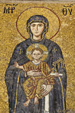 Mosaic of Virgin Mary. In Haghia Sophia, Istanbul, Turkey Royalty Free Stock Photography