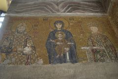 Mosaic of Virgin Mary and Infa Stock Photography