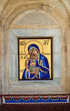 Mosaic of Virgin Mary and Jesus Christ Stock Image