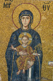 Mosaic with Virgin Mother and Child - Hagia Sophia royalty free stock images