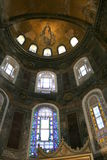 Mosaic of Virgin Mother and Child at Hagia Sophia Stock Images
