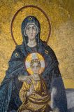 Mosaic of Virgin Mother and her Child Royalty Free Stock Photography