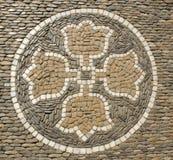 Mosaic on a walkway in Freiburg im Breisgau Stock Photography