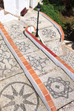 Mosaic walkway to a Mediterranean beach in Nerja Royalty Free Stock Photos