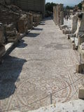 Mosaic walkways in ephesus Stock Images