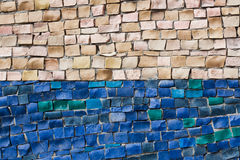 Mosaic on the wall. The background of the mosaic of two colors Stock Images