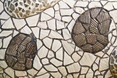 Mosaic wall from broken ceramic tiles Royalty Free Stock Photos