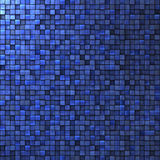 Mosaic wall in cobalt blue Royalty Free Stock Image