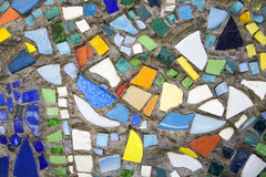 Mosaic on the wall. Mosaic of colored glass. Art and creativity. Fantasy and abstraction. The background and texture Royalty Free Stock Photos