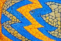 Mosaic wall decorative ornament Royalty Free Stock Photos