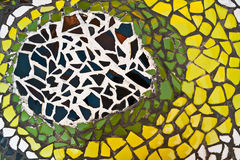 Mosaic wall decorative ornament Royalty Free Stock Image