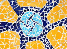 Mosaic wall decorative ornament from ceramic tile Royalty Free Stock Images