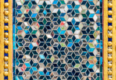 Mosaic wall decorative ornament from colorful glass Royalty Free Stock Images