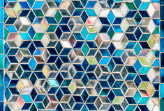 Mosaic wall decorative ornament from colorful glass Royalty Free Stock Photography