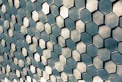 Mosaic wall elevation on Porto terminal building Royalty Free Stock Photos
