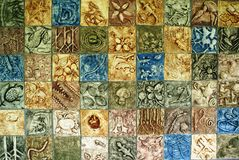 Mosaic wall of environment Royalty Free Stock Photography
