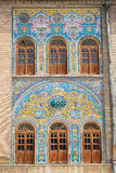 Mosaic wall of Golestan  palace, Tehran, Iran Stock Photos
