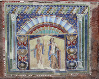 Mosaic wall stock photos