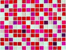 Mosaic wall tile magenta pink tone color closeup Stock Photos