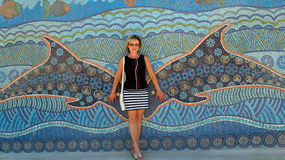 Mosaic wall royalty free stock photo