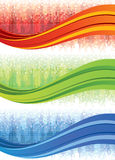Mosaic Wave Banners Stock Photography