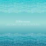 Mosaic wave vector blue gradient background Stock Images